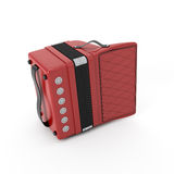 Retro accordion back view Royalty Free Stock Photography