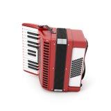 Retro accordion isolated on white Stock Image