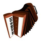 A Retro Accordion Isolated on White Background Royalty Free Stock Photos