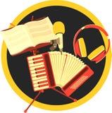 Retro accordion music Royalty Free Stock Image