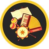Retro accordion music Stock Photos