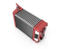 Retro accordion  on white Royalty Free Stock Photos