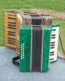 Retro accordions Stock Photography