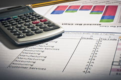 Retro accountancy Stock Image