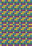Retro achtergrond die van ronde punten wordt gemaakt vector illustratie