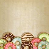 Retro achtergrond met doughnut Royalty-vrije Stock Foto