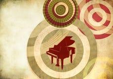Retro achtergrond met grote piano Royalty-vrije Stock Foto