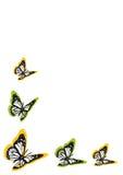 Retro achtergrond met kleurenvlinders royalty-vrije illustratie