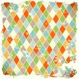 Retro achtergrond met kleurrijke ruiten Stock Fotografie