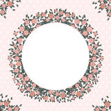 Retro achtergrond met roze rozen Royalty-vrije Stock Foto's