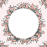 Retro achtergrond met roze rozen Stock Foto