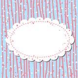 Retro achtergrond in roze en blauw stock illustratie