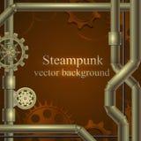 Retro achtergrond Steampunk Royalty-vrije Stock Fotografie