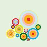 Retro Achtergrond van Cirkels Stock Afbeeldingen