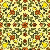 Retro Achtergrond van de bloem Royalty-vrije Stock Afbeelding