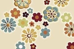 Retro achtergrond van de bloem Stock Foto's
