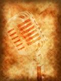 Retro achtergrond van de microfoon Royalty-vrije Stock Afbeeldingen