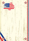 Retro achtergrond van de V.S. Stock Afbeelding