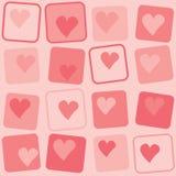 Retro achtergrond van harten Royalty-vrije Stock Afbeelding