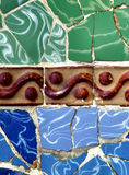 Retro achtergrond van het tegels kleurrijke mozaïek Stock Afbeelding