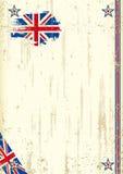 Retro achtergrond van het Verenigd Koninkrijk Stock Afbeelding