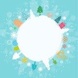 Retro achtergrond van Kerstmis Stock Fotografie