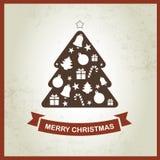 Retro achtergrond van Kerstmis Stock Foto