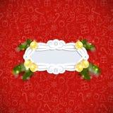 Retro Achtergrond van Kerstmis Stock Afbeeldingen
