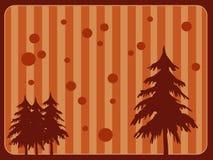 Retro achtergrond van Kerstmis stock illustratie