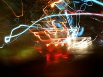 Retro achtergrond van lichten Stock Afbeelding