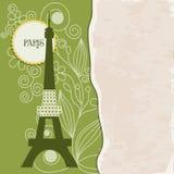 Retro achtergrond van Parijs Stock Afbeeldingen