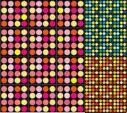 Retro Dots Background royalty-vrije stock afbeelding