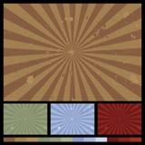 Retro Achtergronden van de Zonnestraal Stock Afbeelding