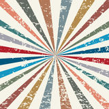 Retro background. Old retro background with rays Royalty Free Stock Photos