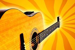 Retro acoustic guitar vector illustration