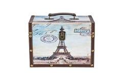 Retro adhesives. Mini Retro suitcase of Paris Stock Images