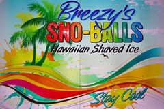Retro-advertising sign sno-balls Royalty Free Stock Images
