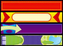 Retro Advertising Web Banners. Four Retro Advertising Web Banners Royalty Free Stock Photos