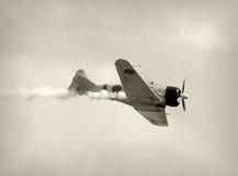 Retro aeroplano del combattente Immagine Stock Libera da Diritti