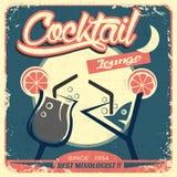 Retro Affiche om Uw Cocktal-Bar te bevorderen Royalty-vrije Stock Fotografie