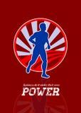 Retro Affiche van de agent de Lopende Macht vector illustratie
