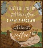 Retro affiche van de koffiekop Stock Foto's
