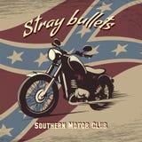 Retro affiche van de motorfietsclub Stock Foto's