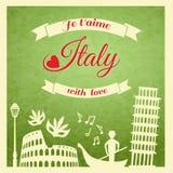 Retro affiche van Italië royalty-vrije illustratie