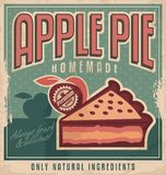 Retro afficheontwerp voor appeltaart Royalty-vrije Stock Afbeelding