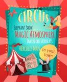 Retro affisch för cirkus Royaltyfri Bild