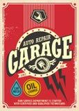 Retro affisch för klassiskt garage Royaltyfri Foto