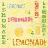 Retro affisch för lemonad Arkivbilder