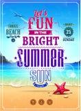 Retro affisch för sommar Royaltyfri Foto