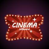 Retro affischtavla för bio Fotografering för Bildbyråer